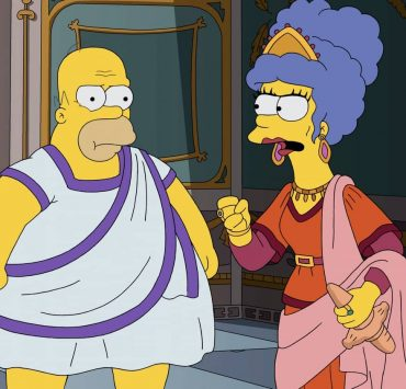 """THE SIMPSONS: At a museum exhibit of Ancient Rome, Marge and Homer get into an argument about Homer's lack of ambition. They then imagine a Roman version of what would happen if Homer was more career-driven in the """"I, Carumbus"""" episode of THE SIMPSONS airing Sunday, Oct. 4 (8:00-8:31 PM ET/PT) on FOX. THE SIMPSONS © 2020 by Twentieth Century Fox Film Corporation."""