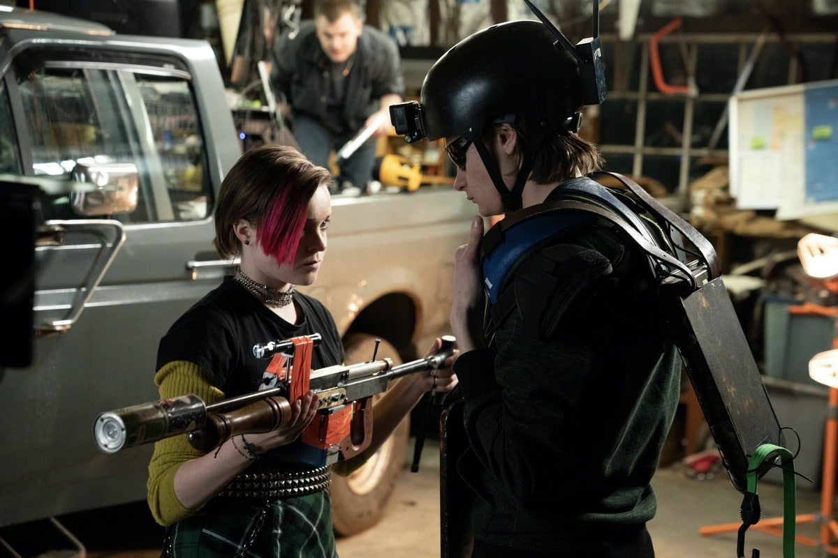 """Monsterland -- """"Eugene, OR"""" -- Episode 102 -- A lonely teen encounters an unwelcome guest. Finalgirl (Nadia Alexander) and Nick (Charlie Tahan), shown. (Photo by: Patrick Harbron/Hulu)"""