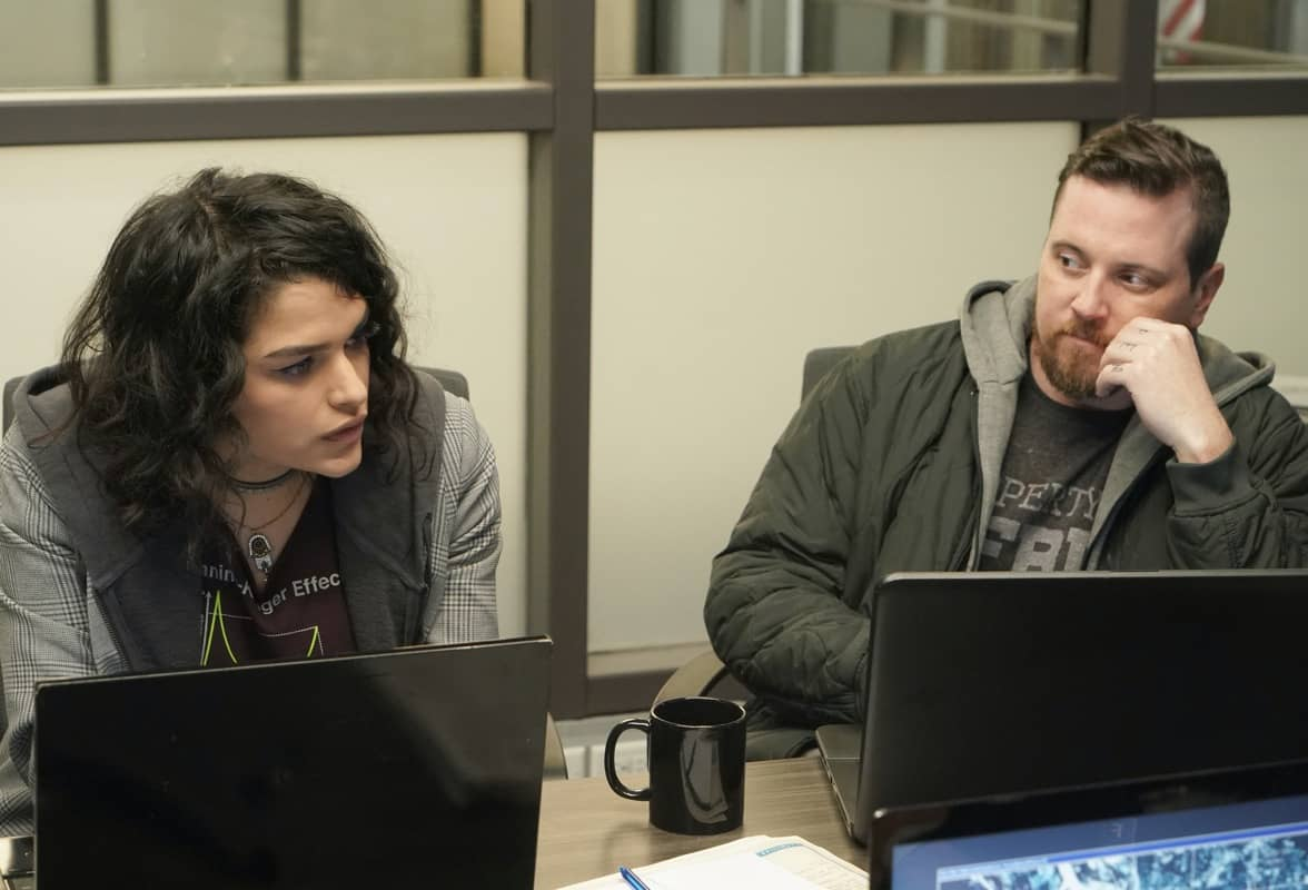 "NEXT: L-R: Eve Harlow and Michael Mosley in the ""File #1"" season premiere episode of NEXT airing Tuesday, Oct. 6 (9:00-10:00 PM ET/PT) on FOX. © 2020 FOX MEDIA LLC. Cr: Shane HarveyFOX."