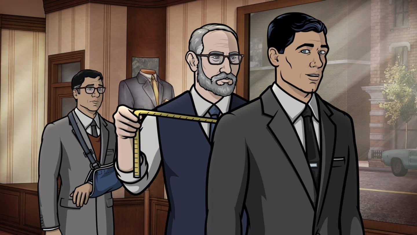 "ARCHER -- ""Best Friends"" -- Season 11, Episode 5 (Airs October 7) Pictured: Cyril Figgis (voice of Chris Parnell), Sterling Archer (voice of H. Jon Benjamin). CR: FXX"