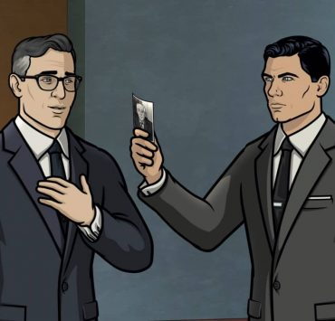 """ARCHER -- """"Best Friends"""" -- Season 11, Episode 5 (Airs October 7) Pictured: Aleister (voice of Simon Pegg), Sterling Archer (voice of H. Jon Benjamin). CR: FXX"""