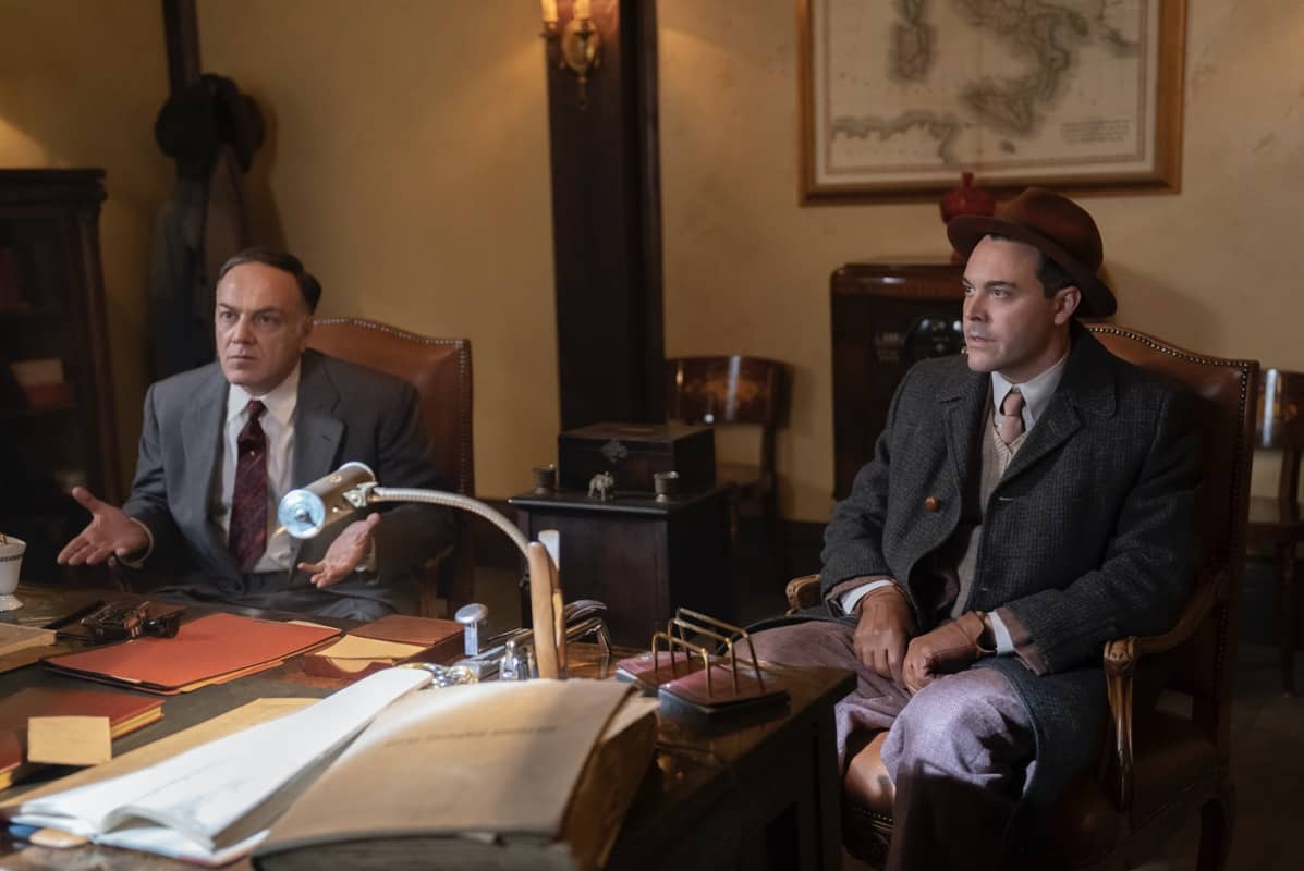 "FARGO -- ""The Pretend War"" - Year 4, Episode 4  (Airs October 11) Pictured: Francesco Acquaroli as Ebal Violante, Jack Huston as Detective Odis Weff. CR: Elizabeth Morris/FX"