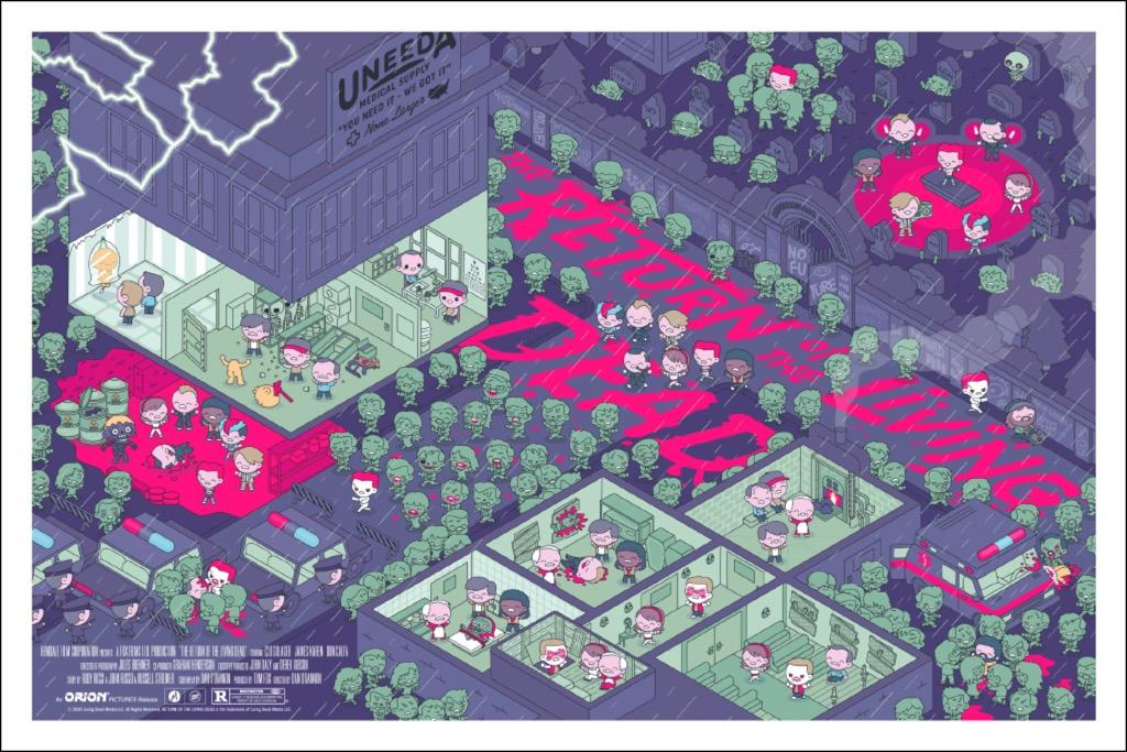 The Return of The Living Dead Mondo Print Poster