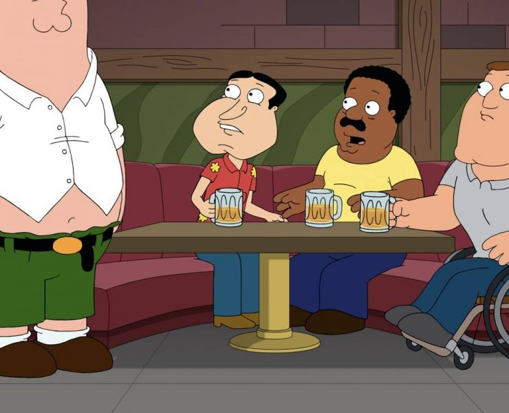 "FAMILY GUY: When Peter injures himself and a family of squirrels in a chainsaw accident, Chris and Stewie take in one of the injured rodents to nurse it back to health. Meanwhile, a chiropractor fixes Peter's injury by realigning his spine – and restoring him to his ""true height"" of 6'5"" in the ""Boys & Squirrels"" episode of FAMILY GUY airing Sunday, Oct. 11 (9:30-10:00 PM ET/PT) on FOX. FAMILY GUY © 2020 by Twentieth Century Fox Film Corporation."