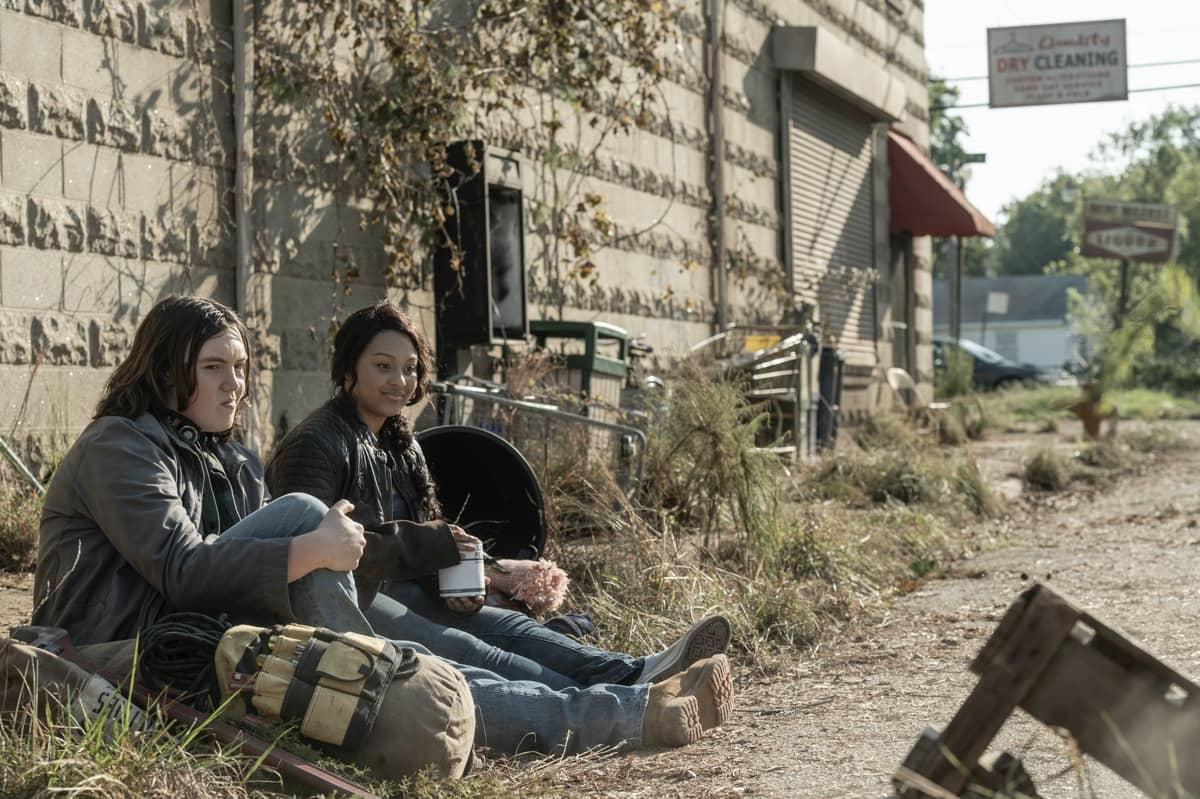 Aliyah Royale as Iris, Hal Cumpston as Silas - The Walking Dead: World Beyond _ Season 1, Episode 2 - Photo Credit: Jojo Whilden/AMC