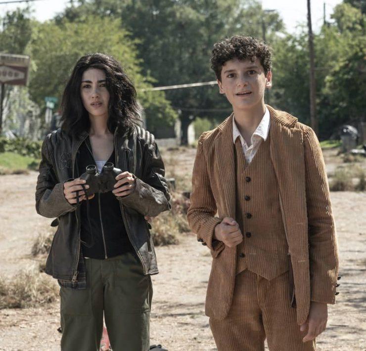 Alexa Mansour as Hope, Nicolas Cantu as Elton - The Walking Dead: World Beyond _ Season 1, Episode 2 - Photo Credit: Jojo Whilden/AMC