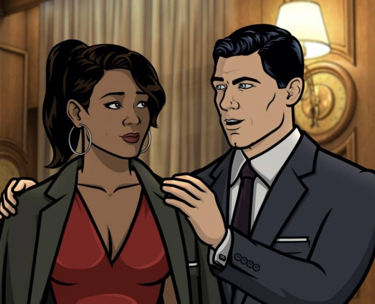 "ARCHER -- ""The Double Date"" -- Season 11, Episode 6 (Airs October 14) Pictured: Gabrielle (voice of Nicole Byer), Sterling Archer (voice of H. Jon Benjamin). CR: FXX"