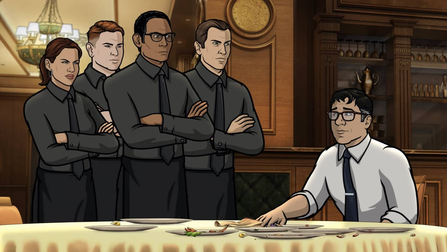 "ARCHER -- ""The Double Date"" -- Season 11, Episode 6 (Airs October 14) Pictured: Cyril Figgis (voice of Chris Parnell). CR: FXX"