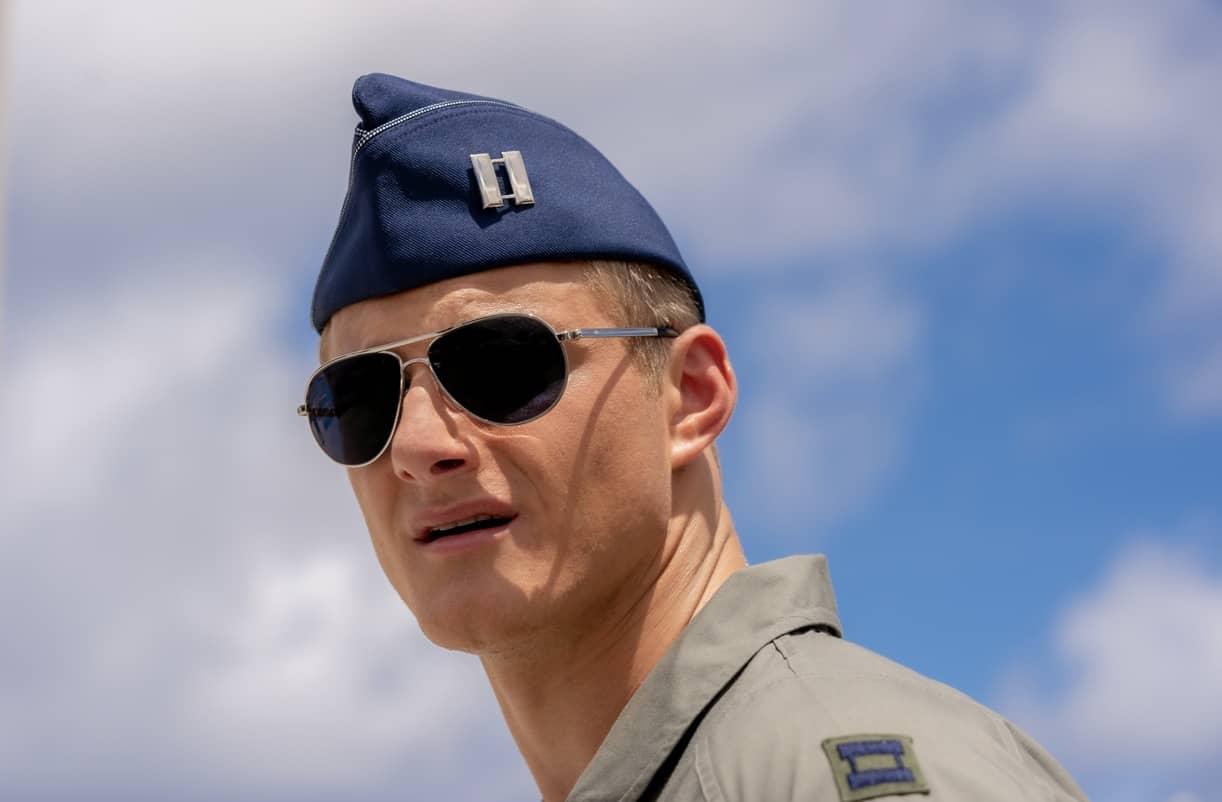 Operation Christmas Drop. Alexander Ludwig as Andrew. Cr. Ricardo Hubbs//NETFLIX © 2020