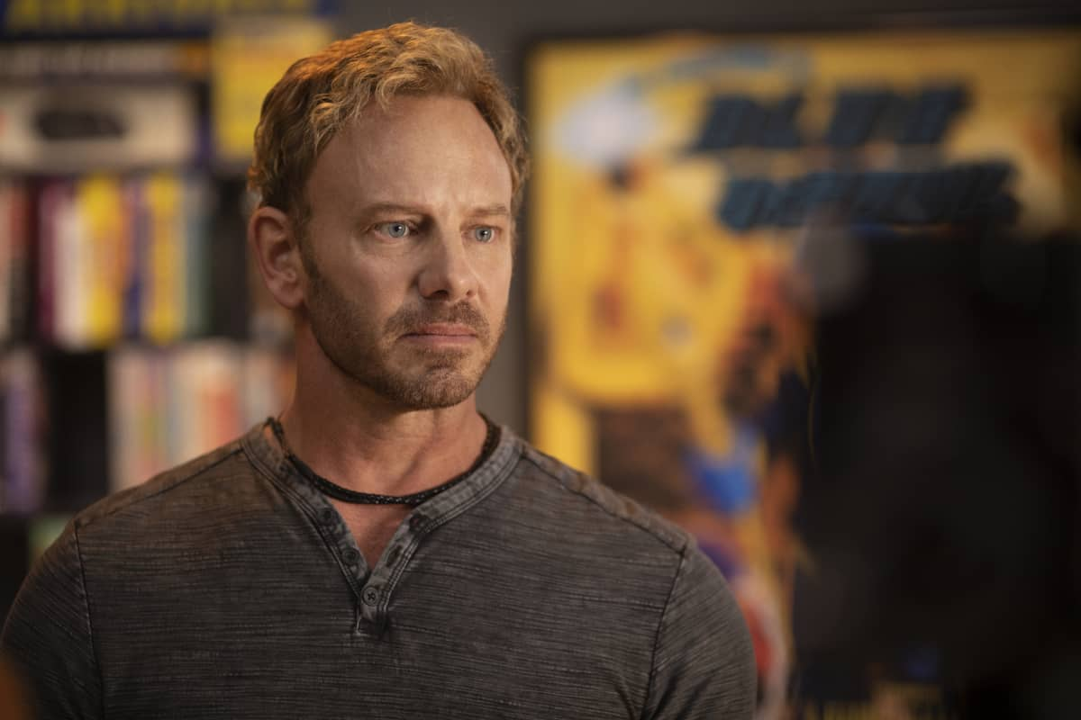 "Swamp Thing -- ""Worlds Apart"" -- Image Number: SWP102a_0239r -- Pictured: Ian Ziering as Daniel Cassidy -- Photo: Fred Norris / 2020 Warner Bros. Entertainment Inc. -- © 2020 Warner Bros. Entertainment Inc. All Rights Reserved."