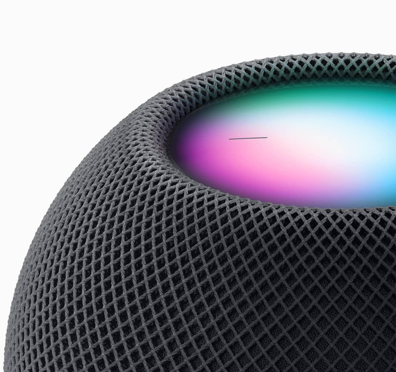 Apple homepod mini space gray close up 10132020
