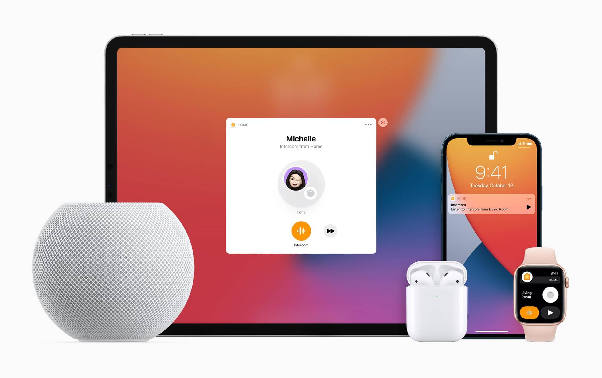 Apple HomePod mini iPad iPhone applewatch airpods 10132020