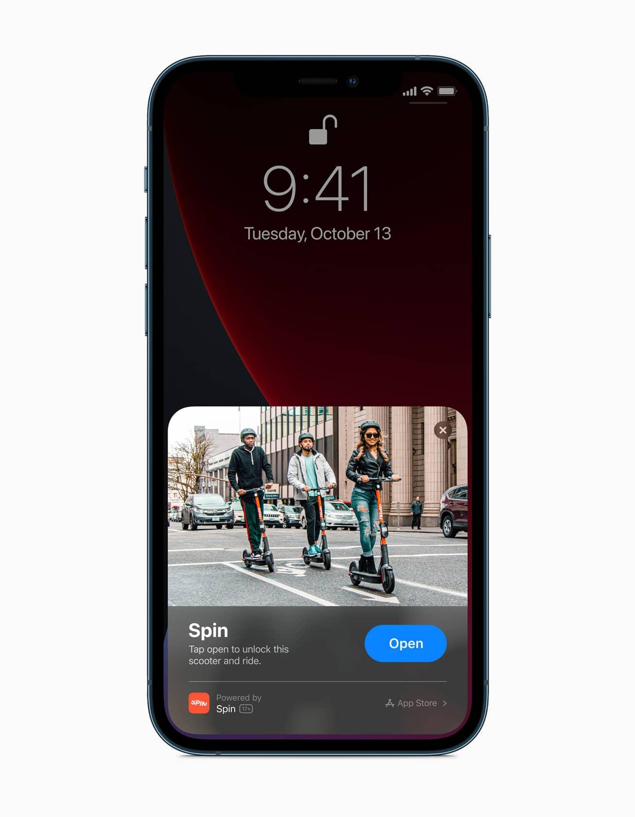Apple iphone12pro ios14 lockscreen appclips darkmode 10132020
