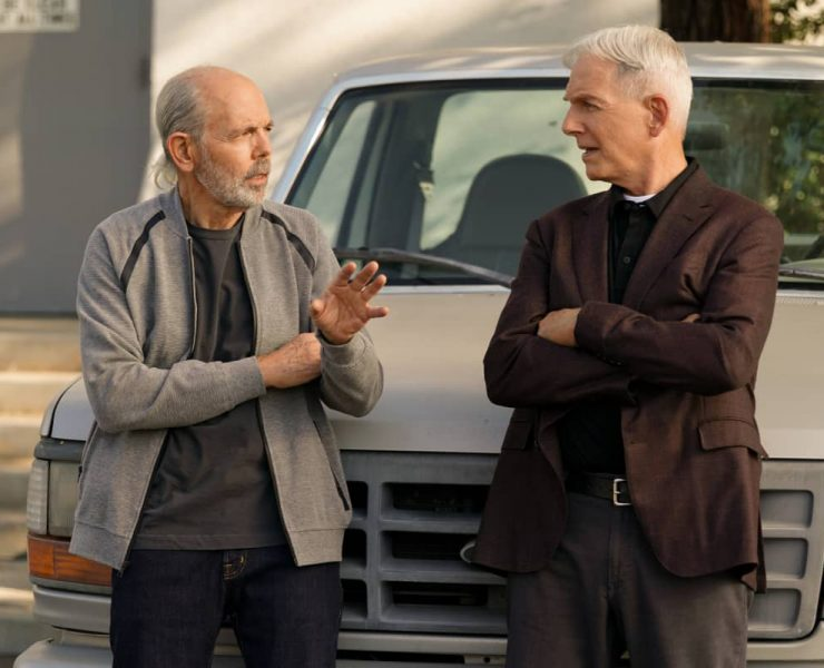 """""""Sturgeon Season"""" -- Gibbs and Fornell (Joe Spano) attempt to track down the leader of a drug ring who supplied drugs to Fornell's daughter. Also, the team deals with the case of a missing cadaver from the NCIS autopsy room, on the 18th season premiere of NCIS, Tuesday, Nov. 17 (8:00-9:00 PM, ET/PT) on the CBS Television Network. Pictured: Joe Spano as Tobias """"T.C."""" Fornell, Mark Harmon as NCIS Special Agent Leroy Jethro Gibbs. Photo: Sonja Flemming/CBS ©2020 CBS Broadcasting, Inc. All Rights Reserved."""