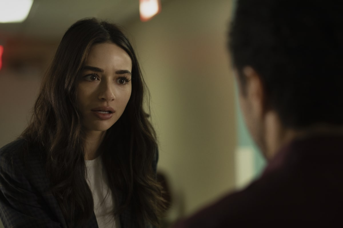 "Swamp Thing -- ""He Speaks"" -- Image Number: SWP103b_0173r -- Pictured: Crystal Reed as Dr. Abby Arcane -- Photo: Fred Norris / 2020 Warner Bros. Entertainment Inc. -- © 2020 Warner Bros. Entertainment Inc. All Rights Reserved."