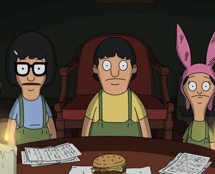 "BOB'S BURGERS: Louise's plan to get revenge on Halloween for a candy transgression hits a snag when the Belcher kids meet a mysterious elderly woman at a hotel. Meanwhile, Linda and a very squeamish Bob donate blood at a vampire-themed blood mobile in the ""Heartbreak Hotel-oween"" special Halloween episode of BOB'S BURGERS airing Sunday, Oct. 18 (9:00-9:30 PM ET/PT) on FOX. BOB'S BURGERS © 2020 by Twentieth Century Fox Film Corporation."