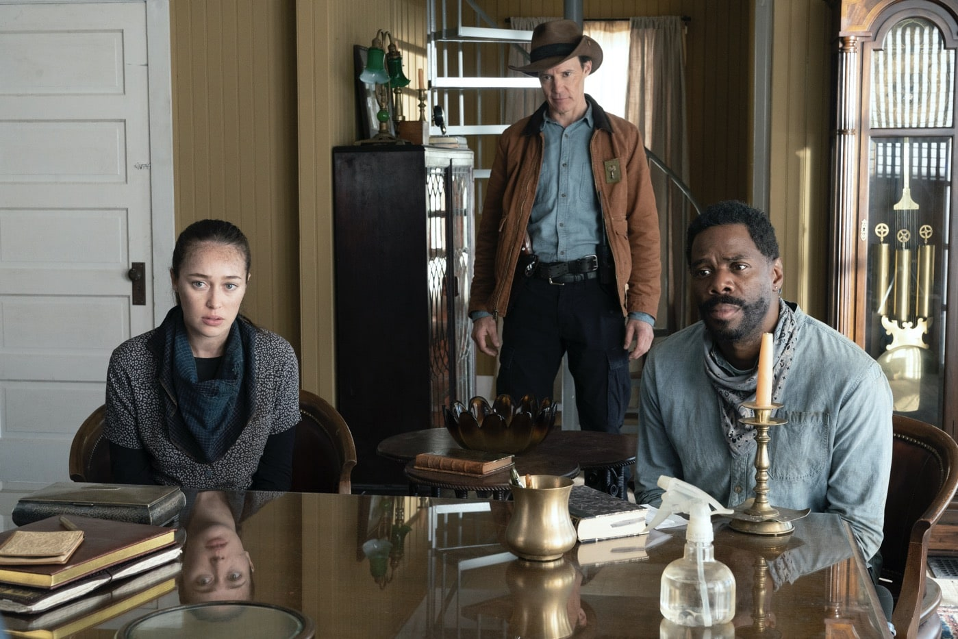 Colman Domingo as Victor Strand, Alycia Debnam-Carey as Alicia Clark, Craig Nigh as Hill - Fear the Walking Dead _ Season 6, Episode 2 - Photo Credit: Ryan Green/AMC