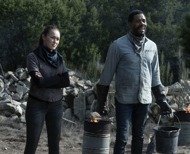 Colman Domingo as Victor Strand, Alycia Debnam-Carey as Alicia Clark - Fear the Walking Dead _ Season 6, Episode 2 - Photo Credit: Ryan Green/AMC