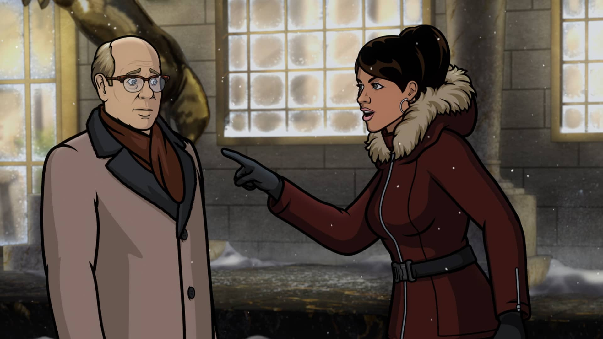 "ARCHER -- ""Caught Napping"" -- Season 11, Episode 7 (Airs October 21) Pictured: Robert (voice of Stephen Tobolowsky), Lana Kane (voice of Aisha Tyler). CR: FXX"
