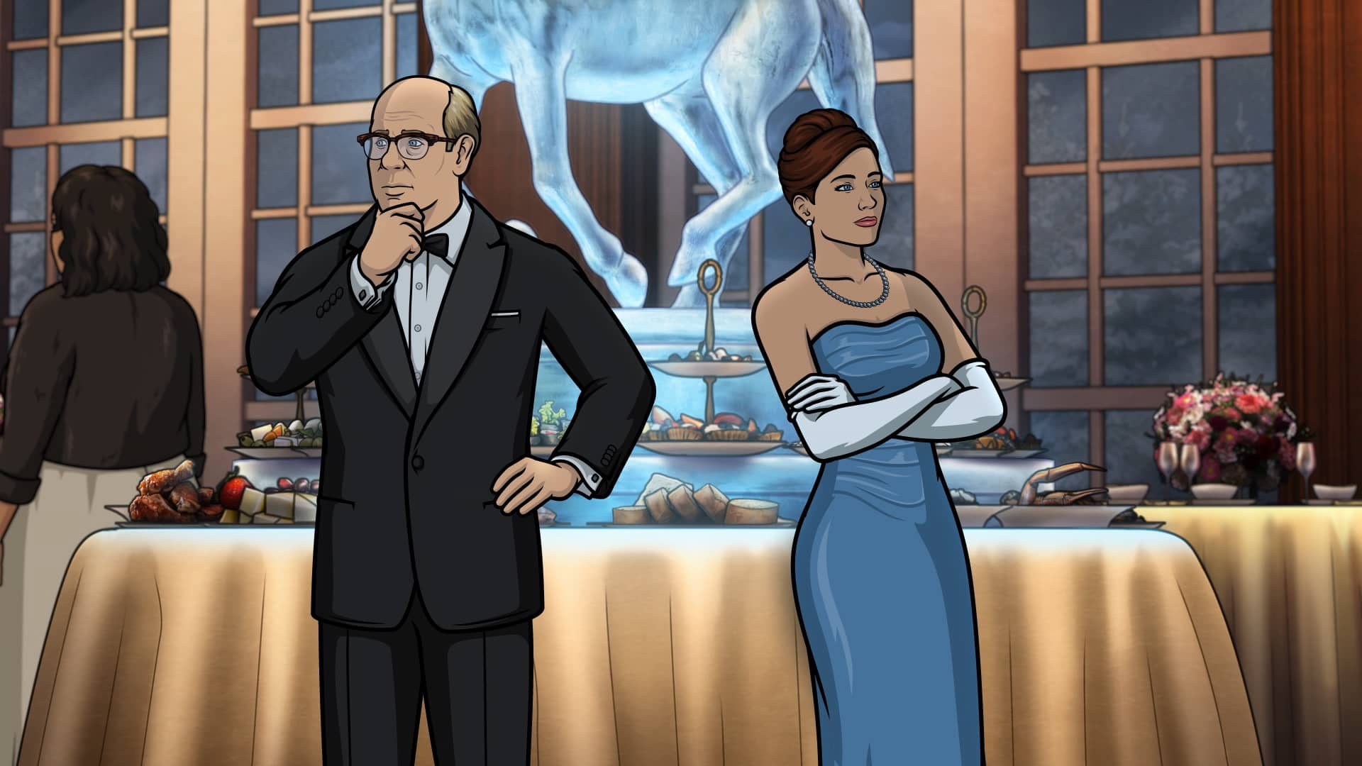 "ARCHER -- ""Caught Napping"" -- Season 11, Episode 7 (Airs October 21) Pictured: Robert (voice of Stephen Tobolowsky), Cheryl/Carol Tunt (voice of Judy Greer). CR: FXX"