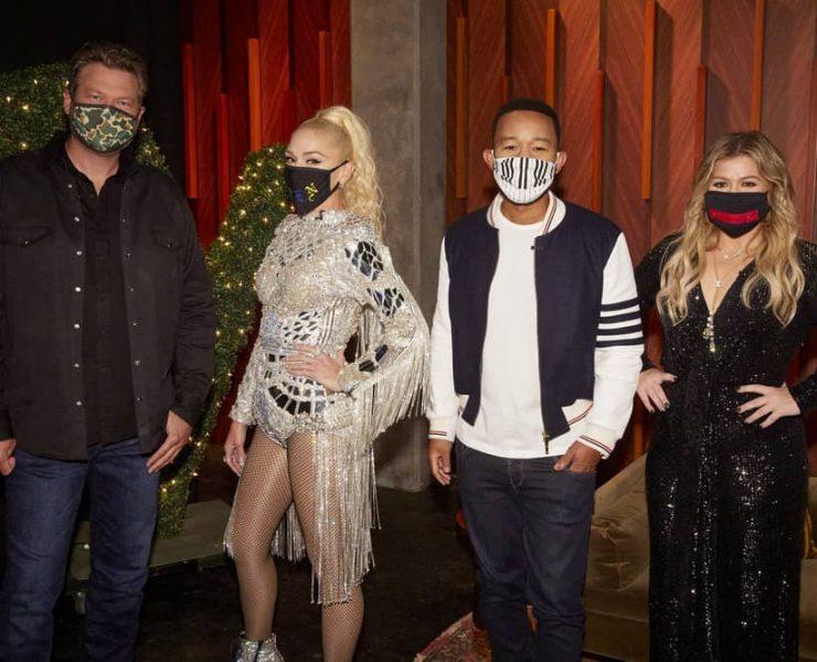 "THE VOICE -- ""Blind Auditions"" -- Pictured: (l-r) Blake Shelton, Gwen Stefani, John Legend, Kelly Clarkson -- (Photo by: Trae Patton/NBC)"