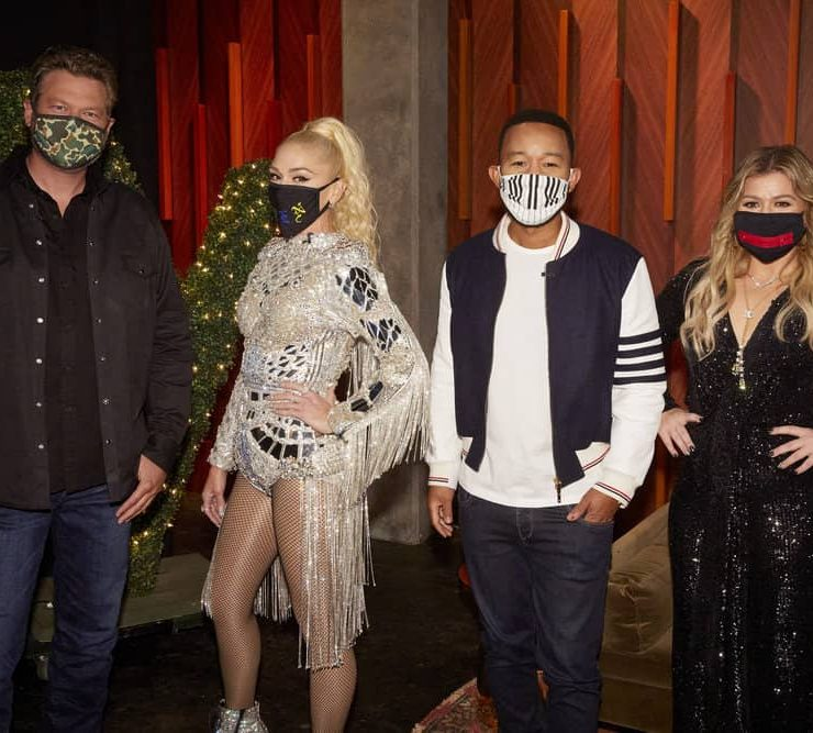 "THE VOICE -- ""Blind Auditions"" -- Pictured: (l-r) Blake Shelton, Gwen Stefani, John Legend, Kelly Clarkson -- (Photo by: Trae Patton/NBC)"