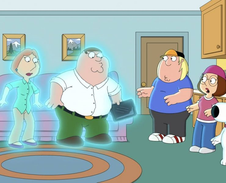 "FAMILY GUY: Peter and Lois accidentally set up a cutaway gag together, which somehow transports them into the cutaway itself in the ""CutawayLand"" episode of FAMILY GUY airing Sunday, Oct. 18 (9:30-10:00 PM ET/PT) on FOX. FAMILY GUY © 2020 by Twentieth Century Fox Film Corporation."