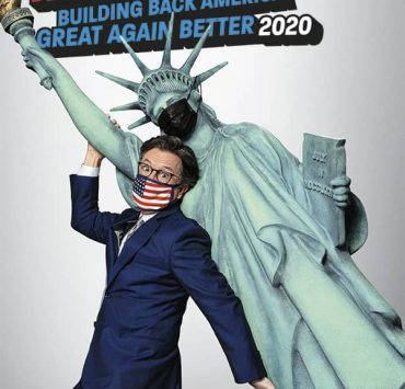 STEPHEN COLBERT'S LIVE ELECTION NIGHT 2020:DEMOCRACY'S LAST STAND: BUILDING BACK AMERICA GREAT AGAIN BETTER 2020 Key Art. - Photo: SHOWTIME