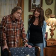 "THE CONNERS - ""Keep On Truckin' Six Feet Apart"" – The Conners are back and dealing with the pandemic, and life's financial troubles loom over the family. Dan is still trying to catch up on back-mortgage payments and avoid a potential eviction, while the Lunch Box is closed for everything but takeout and delivery. Becky and Darlene are both forced to search for additional income at the newly reopened Wellman Plastics plant on the season three premiere of ""The Conners,"" WEDNESDAY, OCT. 21 (9:00-9:30 p.m. EDT), on ABC. (ABC/Eric McCandless) JOHN GOODMAN, KATEY SAGAL"