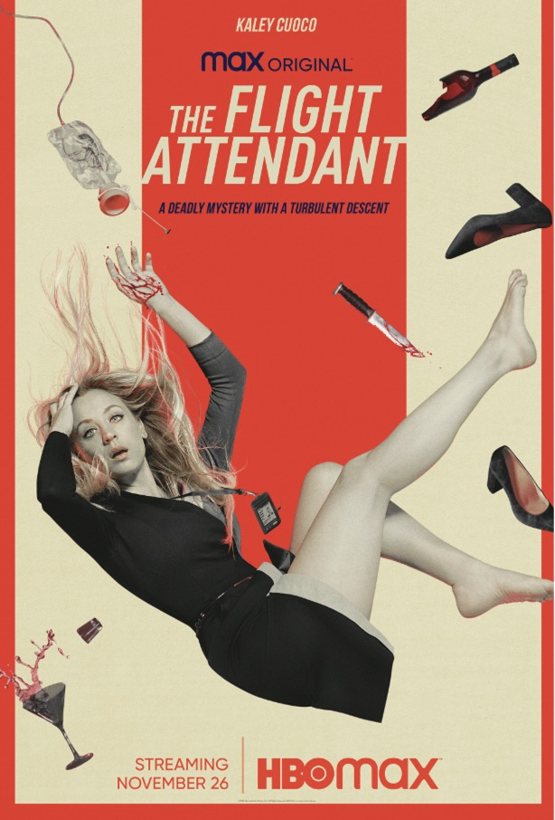 The Flight Attendant Poster One Sheet HBO Max Kaley Cuoco