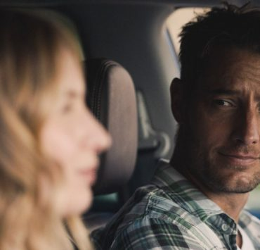 """THIS IS US -- """"Forty: Part 1/Forty: Part 2"""" Episode 501/502 -- Pictured in this screengrab: (l-r) Caitlin Thompson as Madison, Justin Hartley as Kevin -- (Photo by: NBC)"""