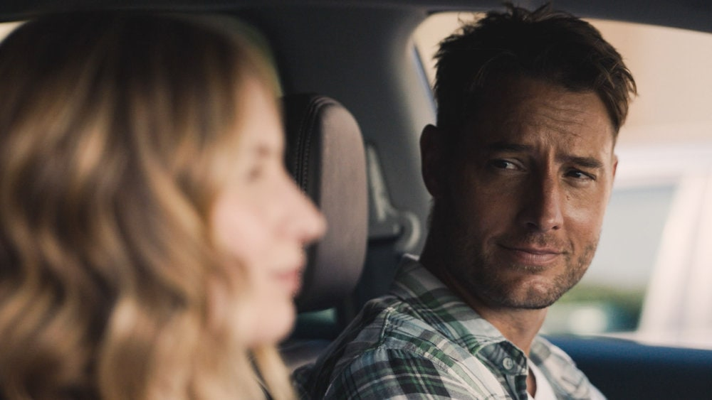 "THIS IS US -- ""Forty: Part 1/Forty: Part 2"" Episode 501/502 -- Pictured in this screengrab: (l-r) Caitlin Thompson as Madison, Justin Hartley as Kevin -- (Photo by: NBC)"