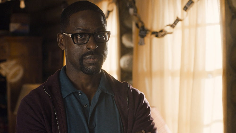 "THIS IS US -- ""Forty: Part 1/Forty: Part 2"" Episode 501/502 -- Pictured in this screengrab: Sterling K. Brown as Randall -- (Photo by: NBC)"