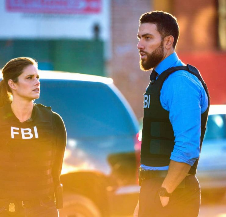 """Never Trust a Stranger"" - The team welcomes a new member, Special Agent Tiffany Wallace (Katherine Renee Turner), as they search for killers who orchestrated a mass shooting at a media company, and OA's personal connection with the case threatens to cloud his judgement, on the third season premiere of FBI, Tuesday, Nov. 17 (9:00-10:00 PM, ET/PT) on the CBS Television Network. Pictured (l-r) Missy Peregrym as Special Agent Maggie Bell and Zeeko Zaki as Special Agent Omar Adom 'OA' Zidan Photo: Michael Parmelee/ CBS 2020 CBS Broadcasting, Inc. All Rights Reserved."