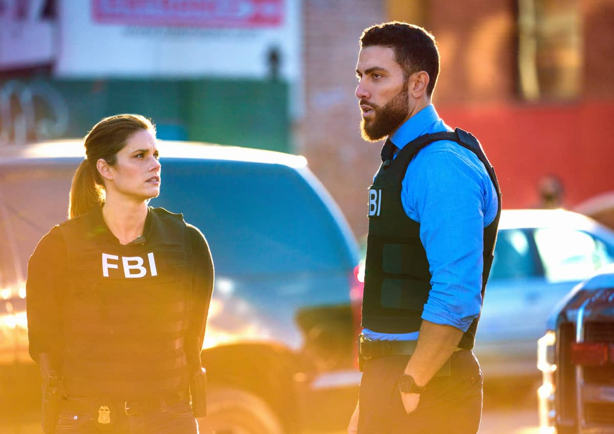 """""""Never Trust a Stranger"""" - The team welcomes a new member, Special Agent Tiffany Wallace (Katherine Renee Turner), as they search for killers who orchestrated a mass shooting at a media company, and OA's personal connection with the case threatens to cloud his judgement, on the third season premiere of FBI, Tuesday, Nov. 17 (9:00-10:00 PM, ET/PT) on the CBS Television Network. Pictured (l-r) Missy Peregrym as Special Agent Maggie Bell and Zeeko Zaki as Special Agent Omar Adom 'OA' Zidan Photo: Michael Parmelee/ CBS 2020 CBS Broadcasting, Inc. All Rights Reserved."""