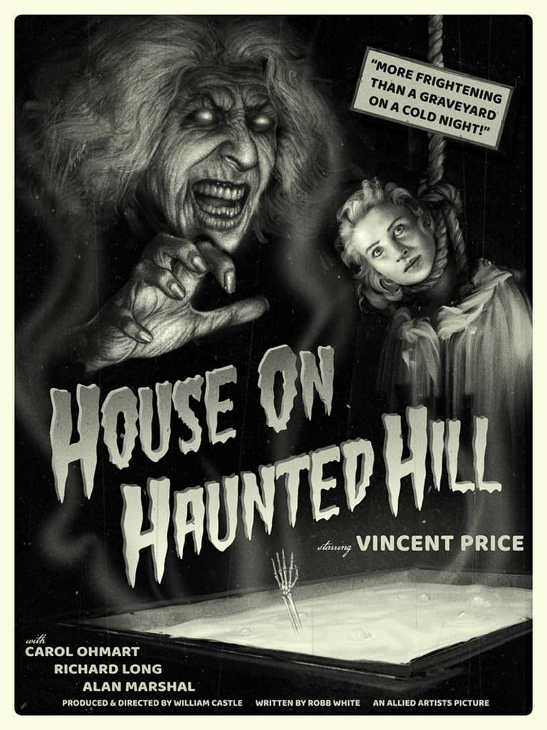 House On Haunted Hill Mondo Poster Sam Wolfe Connelly