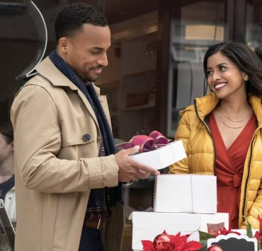 Michael Xavier as Duncan and Tiya Sircar as Ashley star in Christmas on Wheels