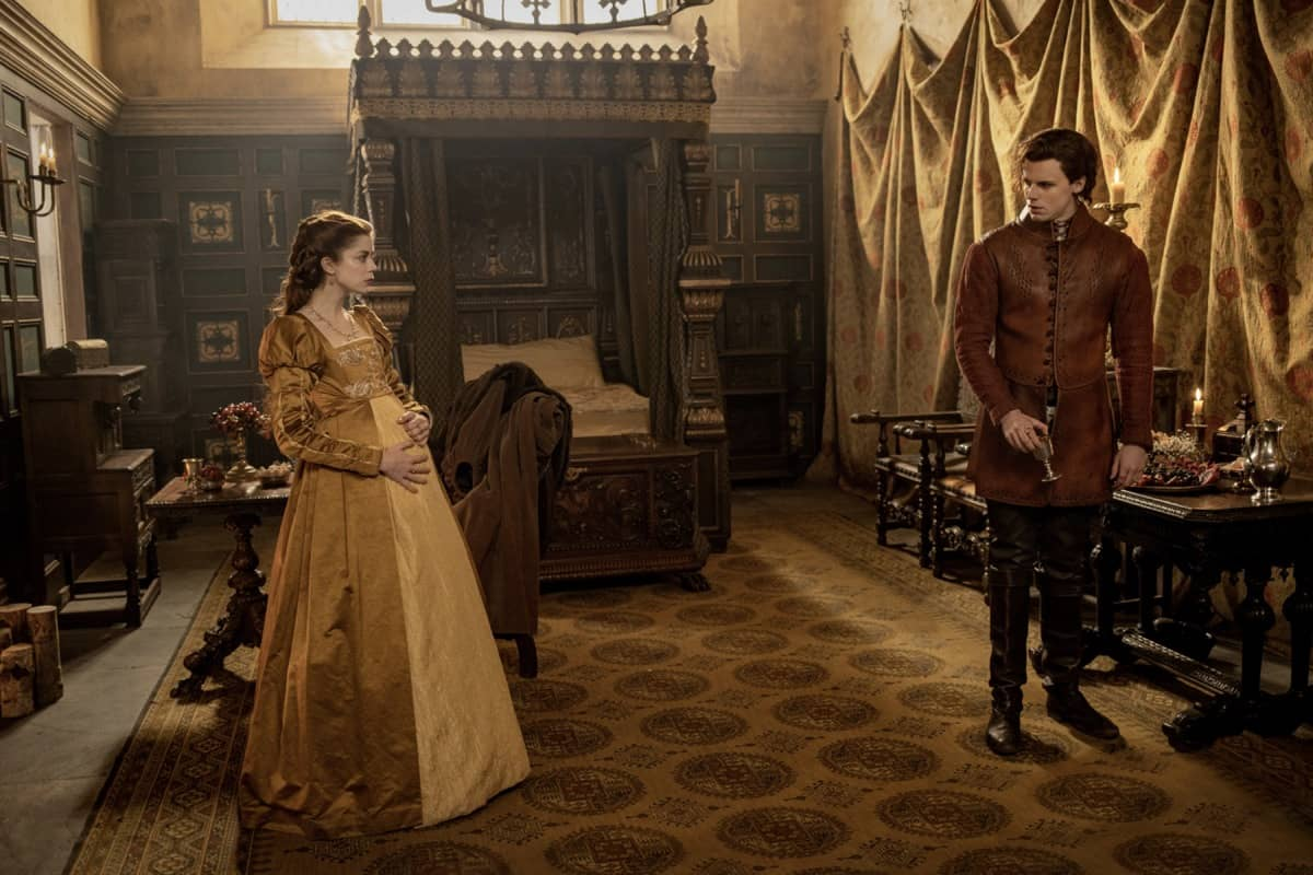 Charlotte Hope stars as Catherine of Aragon and Ruairi O'Connor as Prince Harry - The Spanish Princess Season 2 Episode 4 The Other Woman