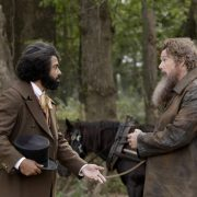 """(L-R): Daveed Diggs as Frederick Douglass and Ethan Hawke as John Brown in THE GOOD LORD BIRD, """"Hiving the Bees"""". Photo Credit: William Gray/SHOWTIME."""
