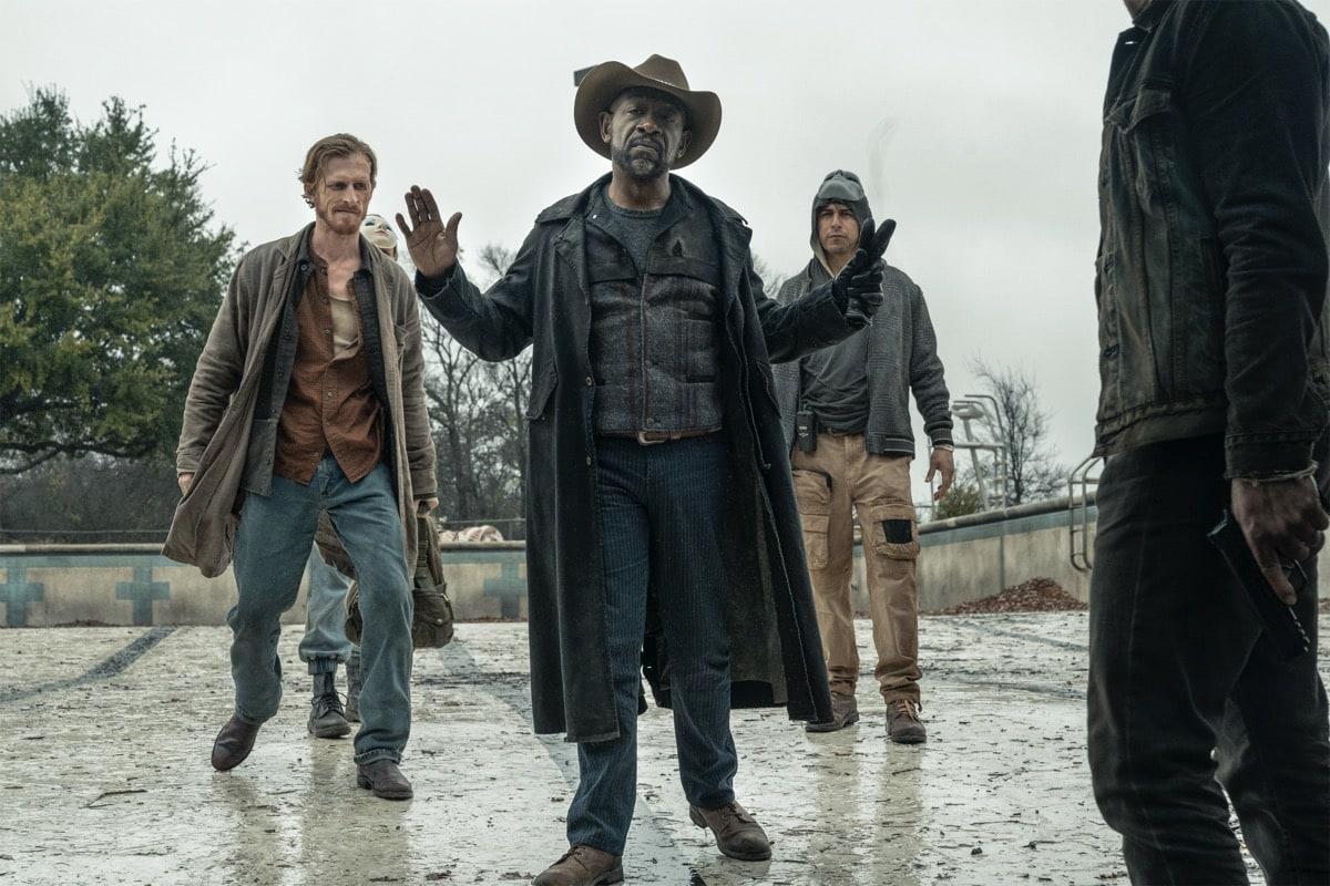 Lennie James as Morgan Jones, Austin Amelio as Dwight, Andre Munar as Oswald - Fear the Walking Dead _ Season 6, Episode 5 - Photo Credit: Ryan Green/AMC