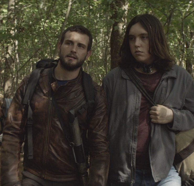 Nico Tortorella as FeliX, Hal Cumpston as Silas - The Walking Dead: World Beyond _ Season 1, Episode 6 - Photo Credit: AMC
