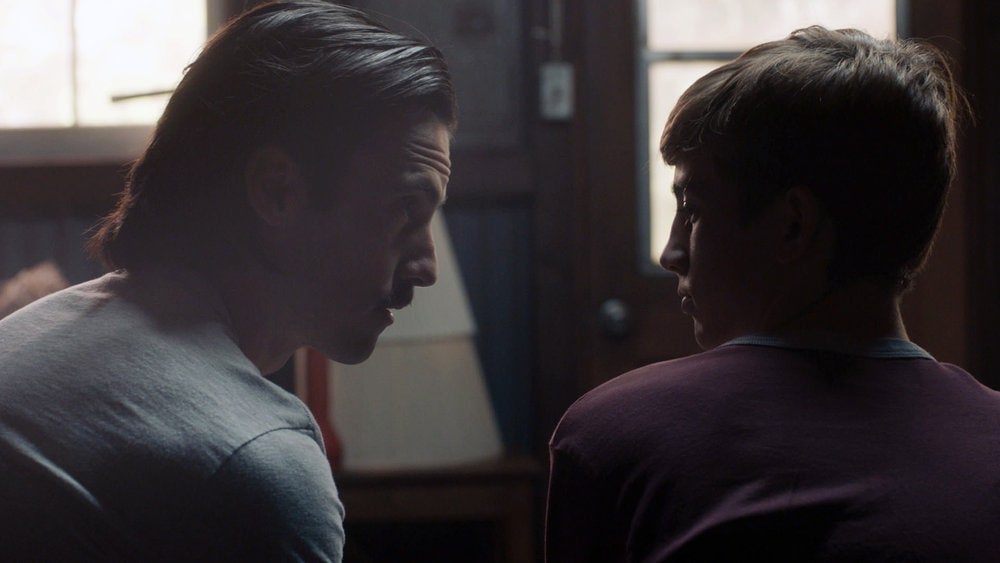 """THIS IS US -- """"Changes"""" Episode 503 -- Pictured in this screengrab: (l-r) Milo Ventimiglia as Jack, Parker Bates as Kevin -- (Photo by: NBC)"""
