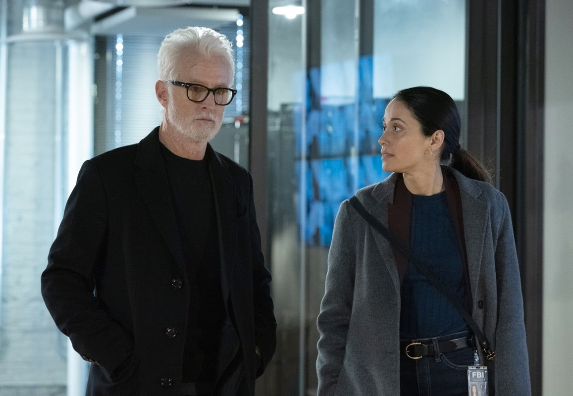 "NEXT: L-R: John Slattery and Fernanda Andrade in the ""File #3"" episode of NEXT airing Tuesday, Nov. 10 (9:00-10:00 PM ET/PT) on FOX. © 2020 FOX MEDIA LLC. Cr: Sandy Morris/FOX."