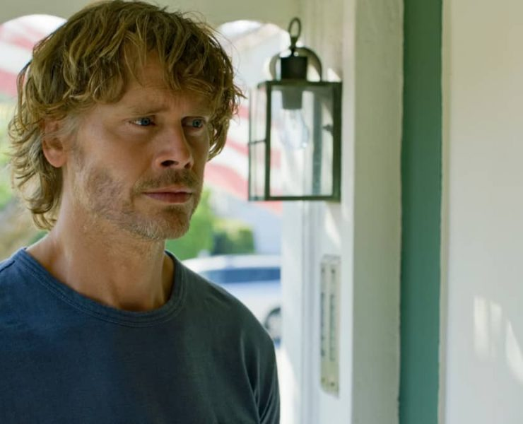 """""""War Crimes"""" - Pictured: Eric Christian Olsen (LAPD Liaison Marty Deeks). As the trial begins of a Chief Petty Officer who Callen and Sam arrested for war crimes last year, the NCIS team is called to help find the missing star witness, on NCIS: LOS ANGELES, Sunday, Nov. 15 (8:00-9:00 PM, ET/PT) on the CBS Television Network. Photo: Screen Grab/CBS ©2020 CBSBroadcasting, Inc. All Rights Reserved."""