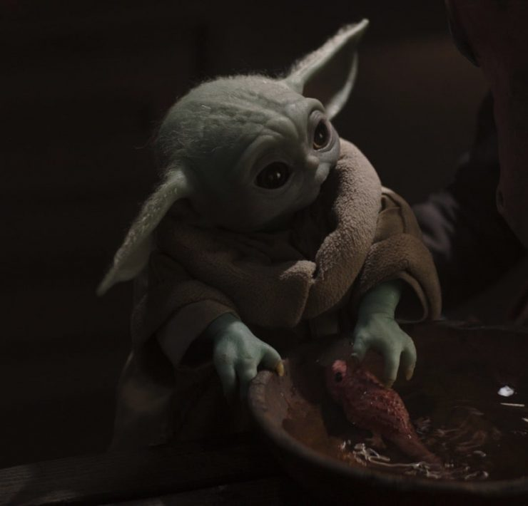 The Child in Lucasfilm's THE MANDALORIAN, season two, exclusively on Disney+. © 2020 Lucasfilm Ltd. & ™. All Rights Reserved.