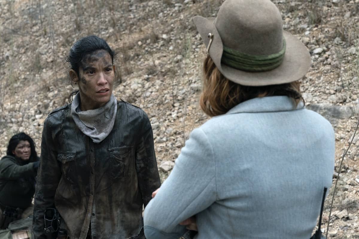 Danay Garcia as Luciana, Colby Minifie as Virginia - Fear the Walking Dead _ Season 6, Episode 6 - Photo Credit: Ryan Green/AMC
