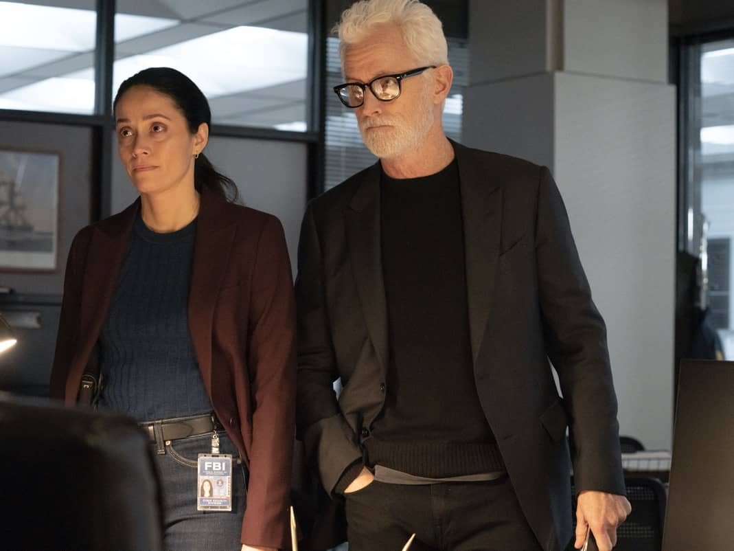 "NEXT: L-R: Fernanda Andrade and John Slattery in the ""File #4"" episode of NEXT airing Tuesday, Nov. 17 (9:00-10:00 PM ET/PT) on FOX. © 2020 FOX MEDIA LLC. Cr: Sandy Morris/FOX."