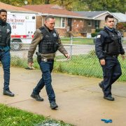 "CHICAGO P.D. -- ""White Knuckle"" Episode 802 -- Pictured: (l-r) LaRoyce Hawkins as Kevin Atwater, Jason Beghe as Hank Voight -- (Photo by: Matt Dinerstein/NBC)"