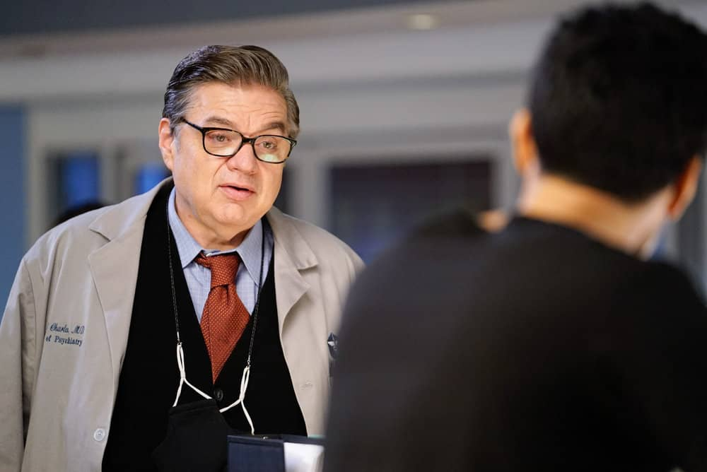 "CHICAGO MED -- ""Those Things Hidden In Plain Sight"" Episode 602 -- Pictured: Oliver Platt as Daniel Charles -- (Photo by: Elizabeth Sisson/NBC)"