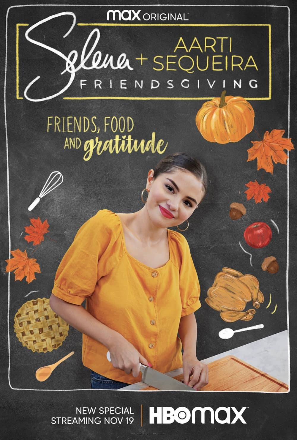 Selena And Chef Friendsgiving Poster